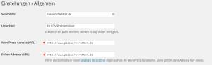Wordpress-Einstellungen-SiteURL